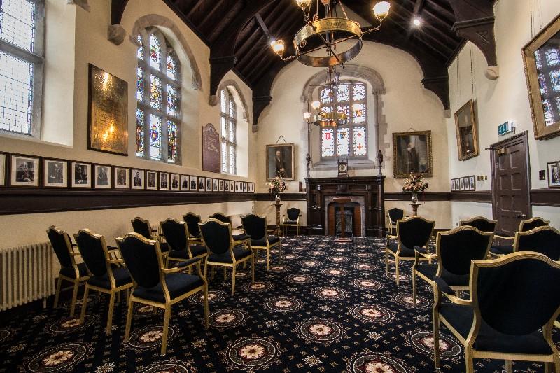 Launceston Guildhall Black Chairs